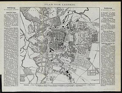 Stadtplan zum Adressbuch Leipzig 1859