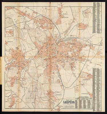 Stadtplan zum Adressbuch Leipzig 1894
