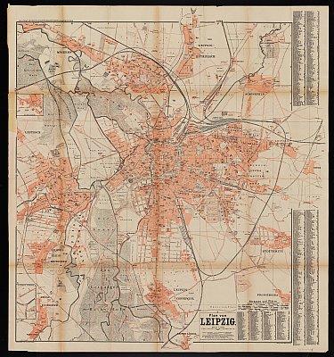 Stadtplan zum Adressbuch Leipzig 1895