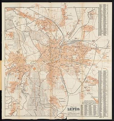 Stadtplan zum Adressbuch Leipzig 1900