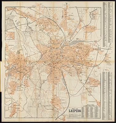 Stadtplan zum Adressbuch Leipzig 1903