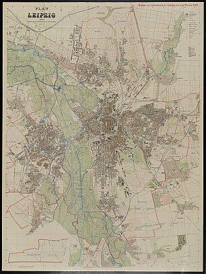 Stadtplan zum Adressbuch Leipzig 1908