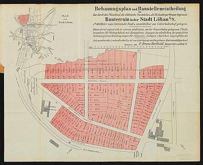 Stadtplan zum Adressbuch Löbau 1893