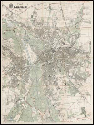Stadtplan zum Adressbuch Leipzig 1925