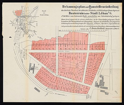 Stadtplan zum Adressbuch Löbau 1889