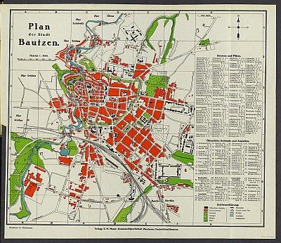 Stadtplan zum Adressbuch Bautzen 1925