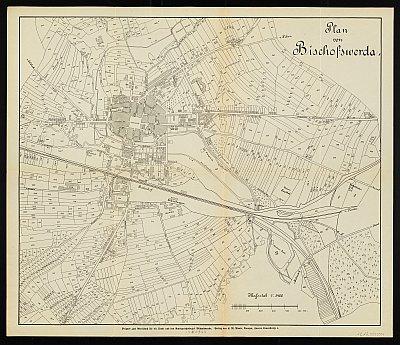 Stadtplan zum Adressbuch Bischofswerda 1913