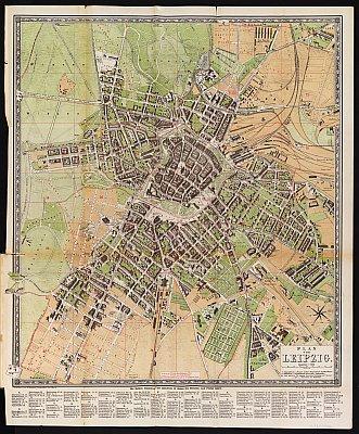 Stadtplan zum Adressbuch Leipzig 1885