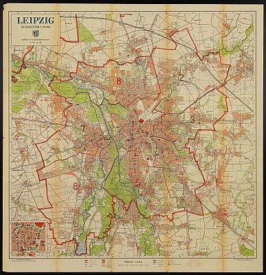Stadtplan zum Adressbuch Leipzig 1948