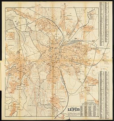 Stadtplan zum Adressbuch Leipzig 1902