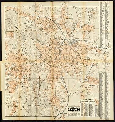 Stadtplan zum Adressbuch Leipzig 1901