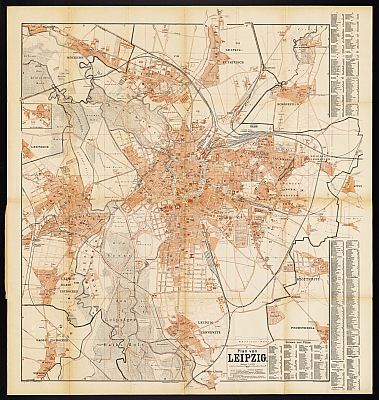 Stadtplan zum Adressbuch Leipzig 1891