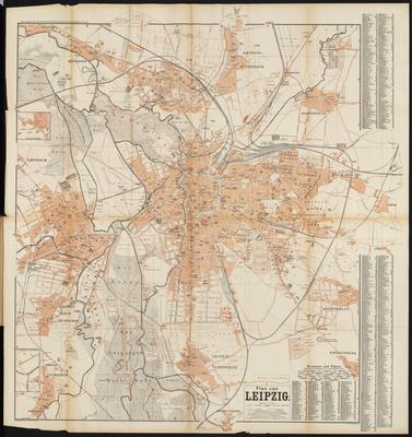 Stadtplan zum Adressbuch Leipzig 1896