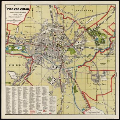 Stadtplan zum Adressbuch Zittau 1930