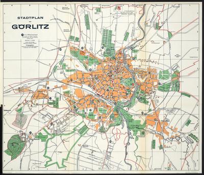 Stadtplan zum Adressbuch Görlitz 1938