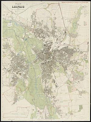 Stadtplan zum Adressbuch Leipzig 1909