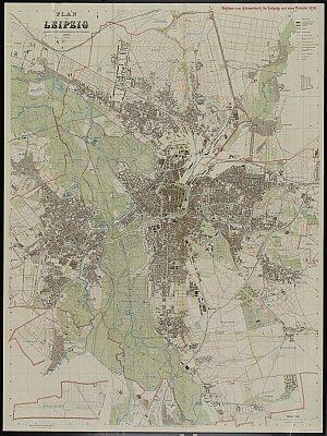 Stadtplan zum Adressbuch Leipzig 1910