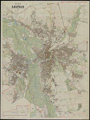 Stadtplan zum Adressbuch Leipzig 1911