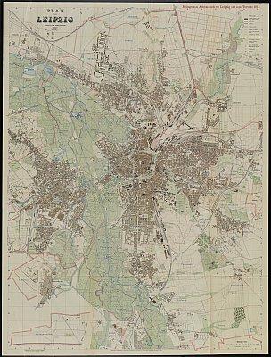 Stadtplan zum Adressbuch Leipzig 1912
