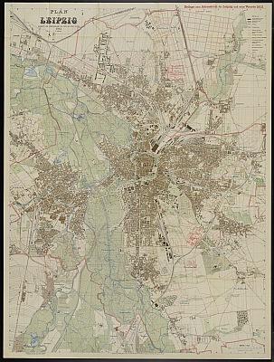 Stadtplan zum Adressbuch Leipzig 1913