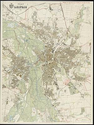 Stadtplan zum Adressbuch Leipzig 1914