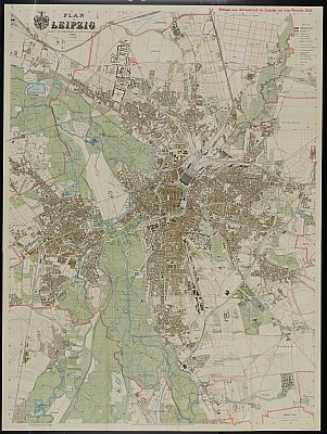 Stadtplan zum Adressbuch Leipzig 1916