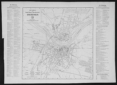 Stadtplan zum Adressbuch Dresden 1856